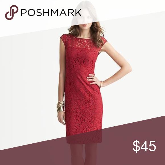 6304df4c8ef3 Banana Republic red lace sheath dress Size 10 This is a Lovely Banana  Republic Red Lace