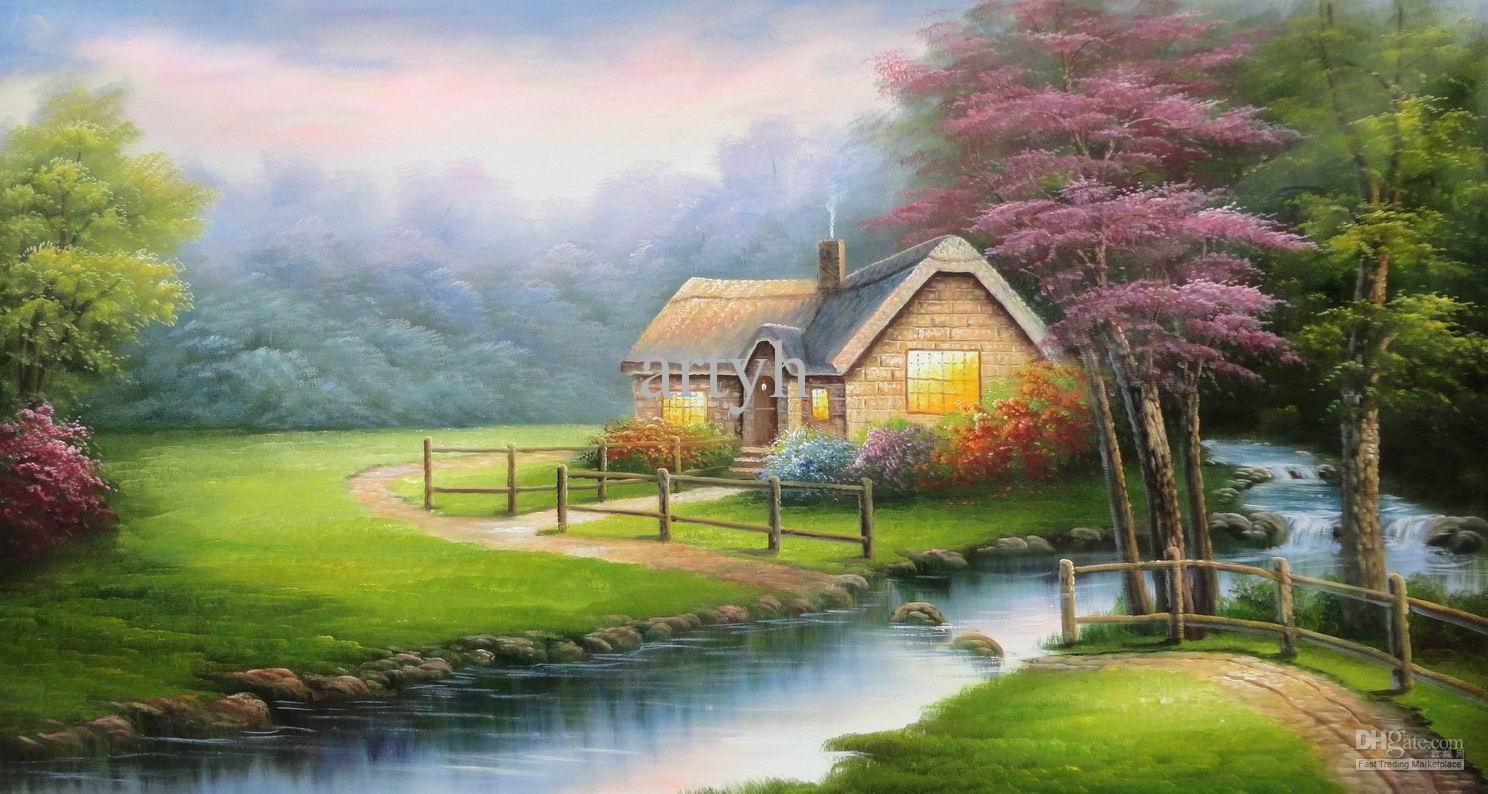 Wholesale Paintings Buy Popular Modern Thomas Wall Decor Scenery