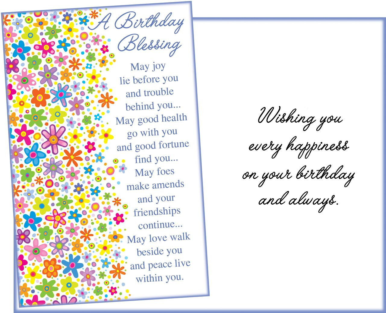 87053 Six Religious Birthday Greeting Cards With Envelopes