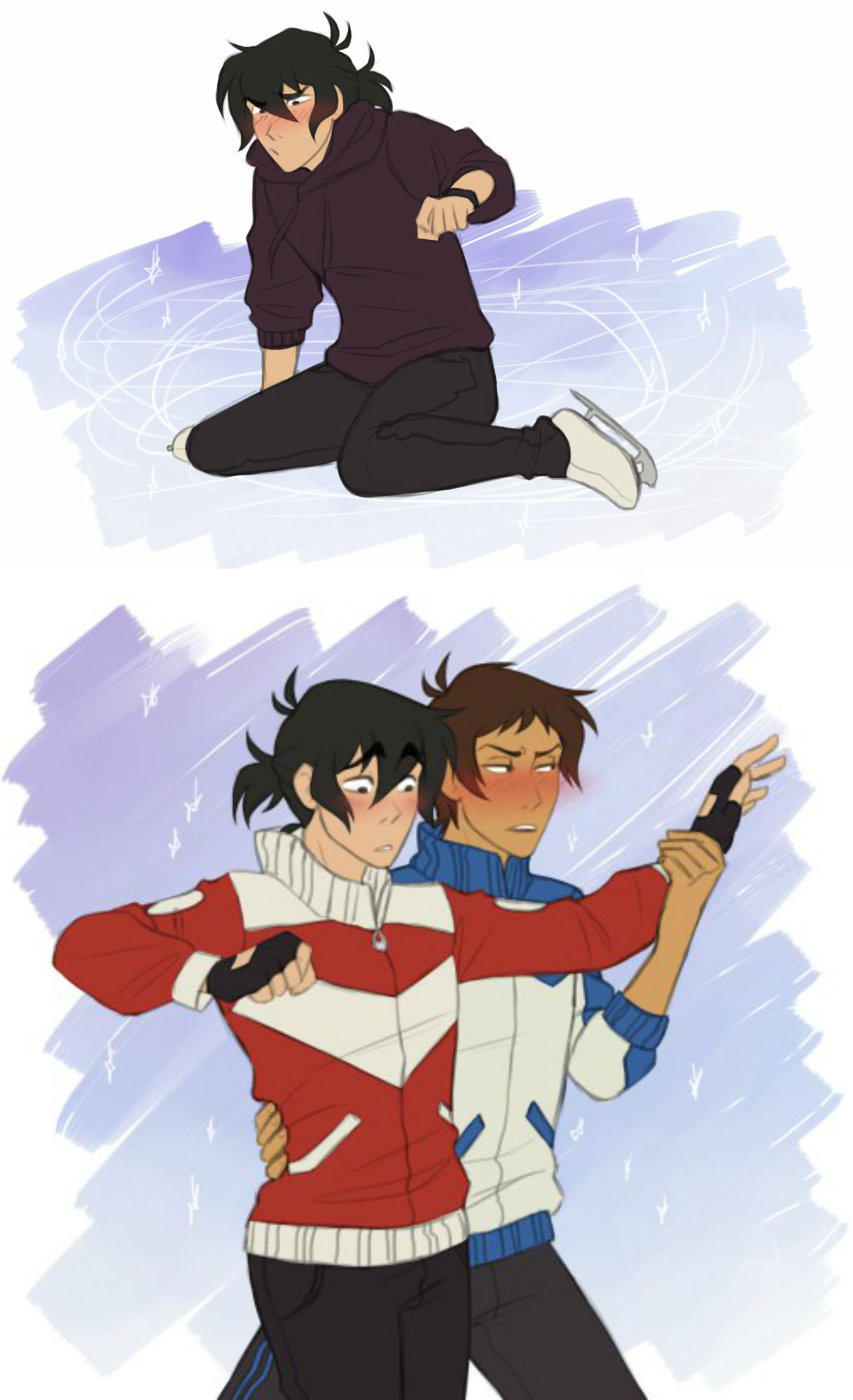 wow a yuri on ice au is that what this is it should be make a yuri ...