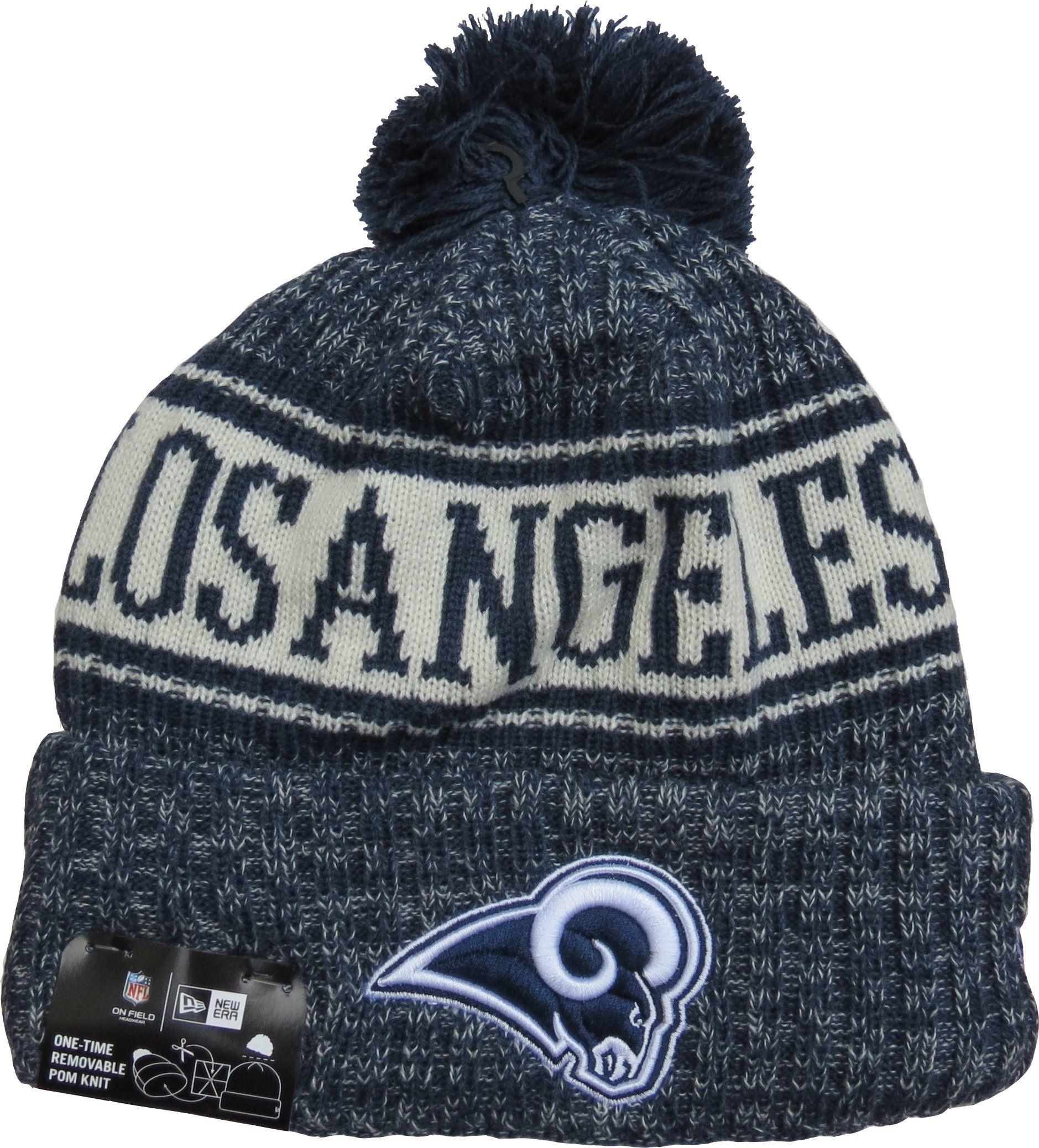 efd47e3f74c Los Angeles Rams New Era NFL On Field 2018 Sport Knit Bobble Hat – lovemycap