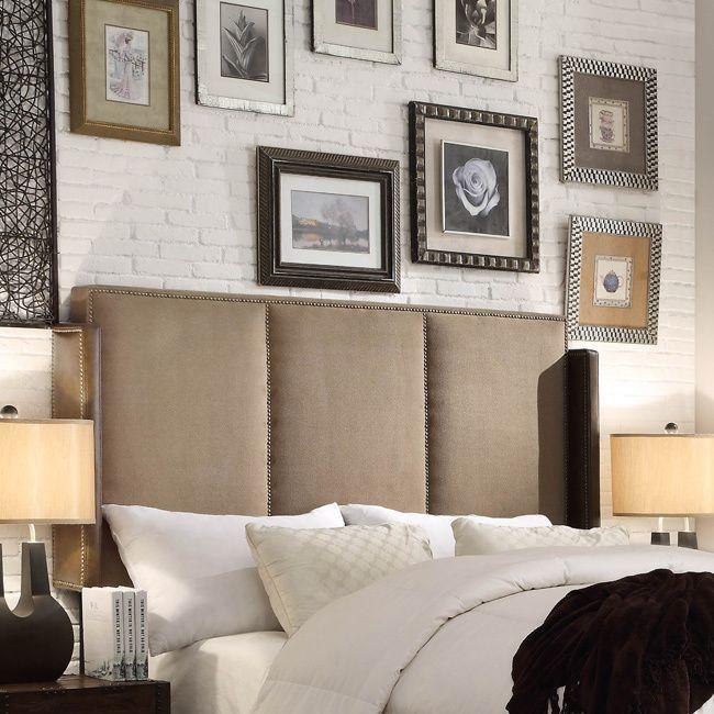 Moser Bay Furniture Fresco Mocha Queen Upholstered Headboard (Queen), Brown