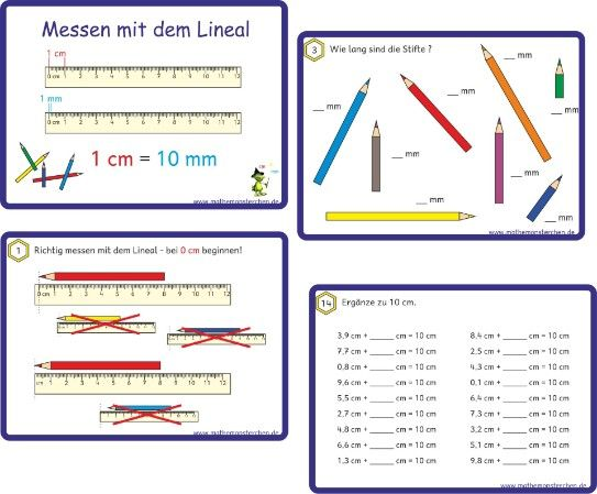 Arbeitsblatt Thermometer Messen : Längen mathematik leicht gemacht pinterest mathe
