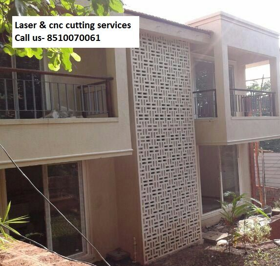 Stone Jali Elevation : We provide all kind of laser and cnc cutting work on these