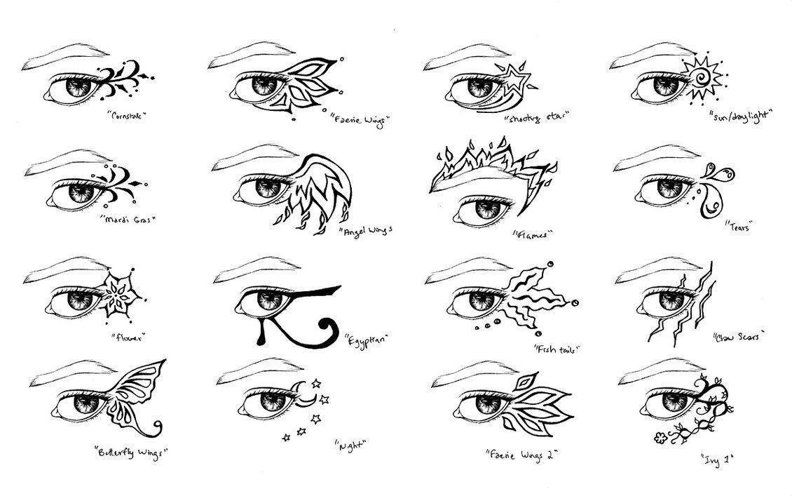Eye tattoo (henna) designs