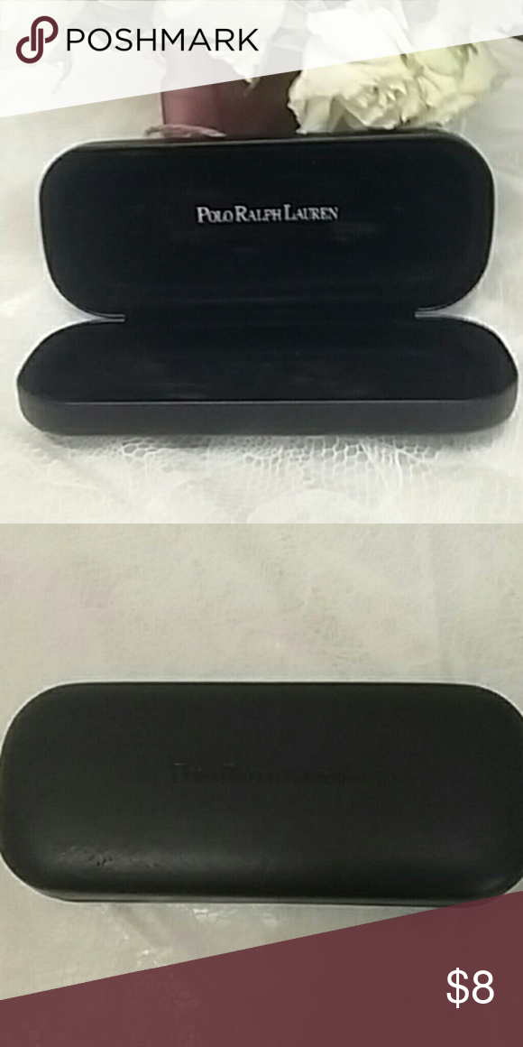 00dd62c0bbe5 Polo Ralph Lauren sunglass case Black Polo Ralph Lauren sunglasses or eyeglass  case says Polo Ralph Lauren on the front and in the inside.