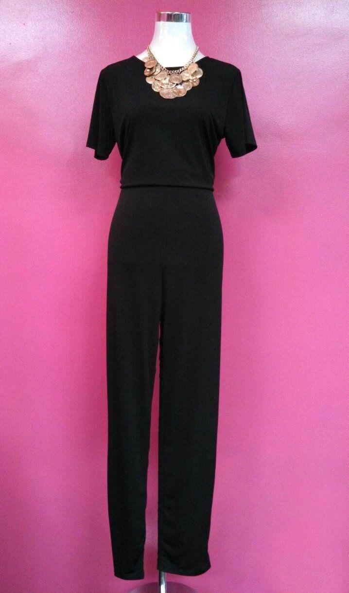 Misses Plus Capped Sleeve Jumpsuit $45.00