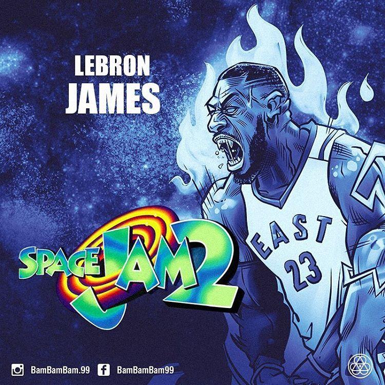 Lebron James To Star In Space Jam 2 Lebron James Nba Artwork Lebron