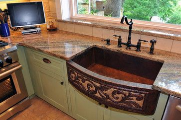 Would you look at this sink!! Wow! (Sage Green Custom Cabinets ...