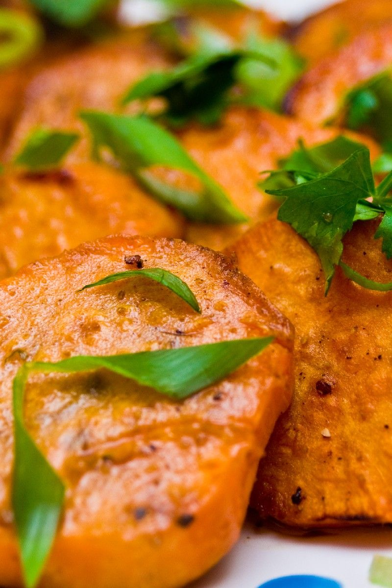 Grilled Sweet Potatoes with Lime and Cilantro #Recipe
