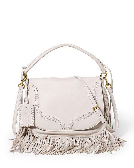 Fringed Leather Saddle Bag - Polo Ralph Lauren Hobos \u0026 Shoulder Bags -  RalphLauren.com