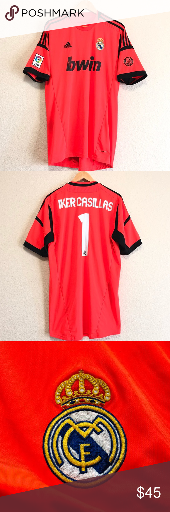 Official Iker Casillas Real Madrid Adidas Jersey Adidas Shirt Real Madrid Clothes Design