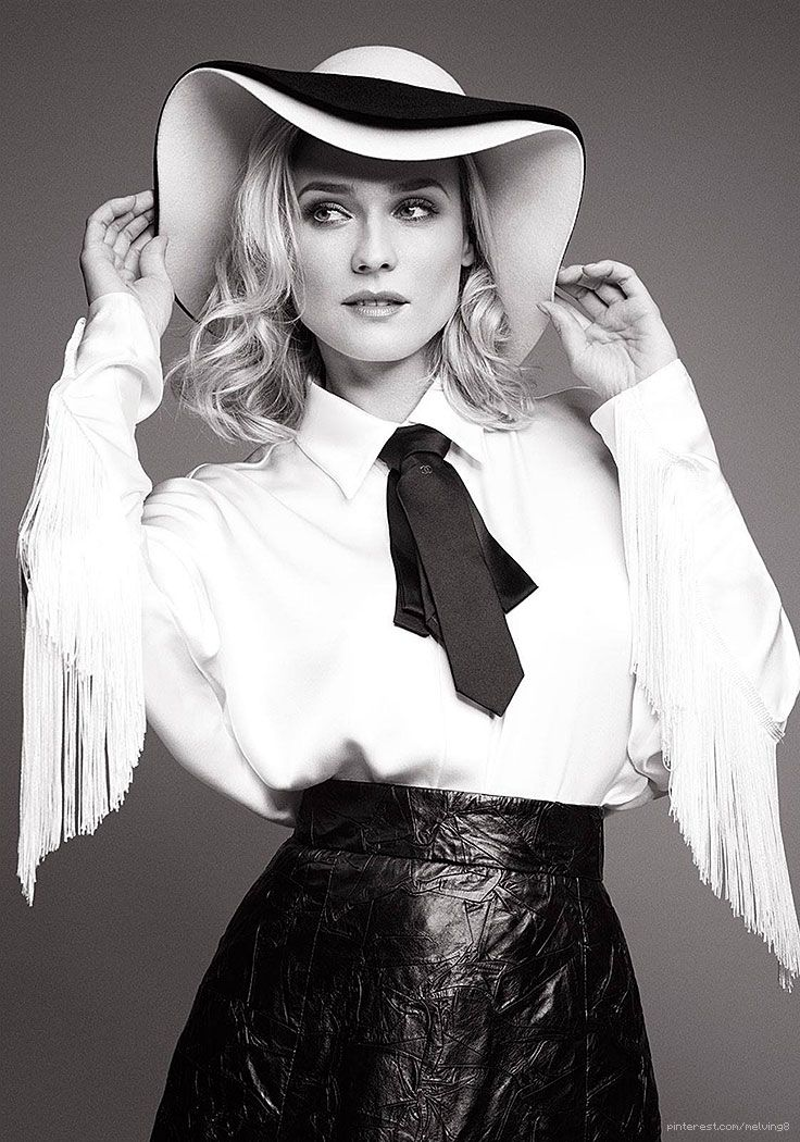 Diane Kruger by Horst Diekgerdes for InStyle • 2014