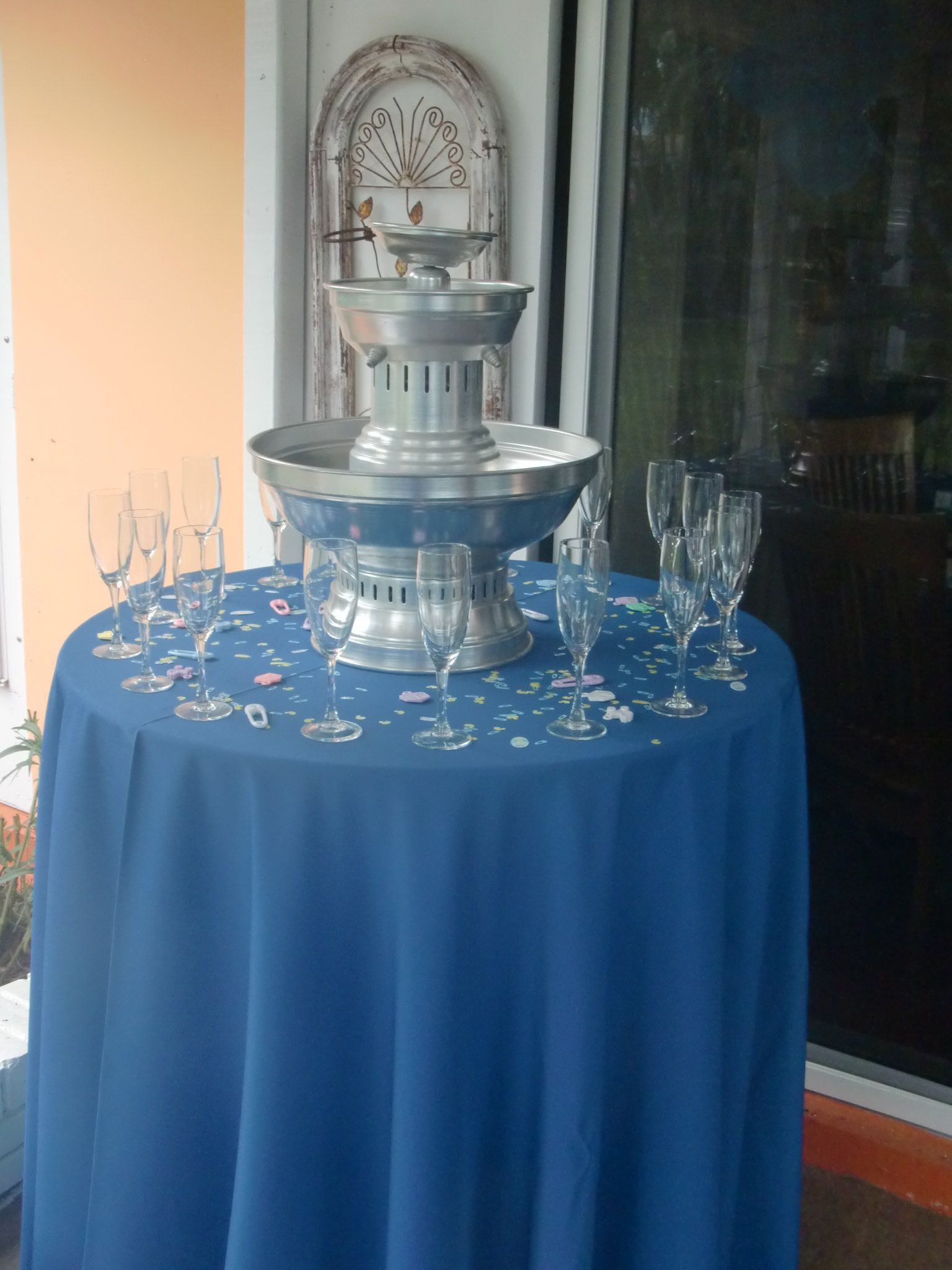 It's a Boy - Champagne Fountain and Glasses