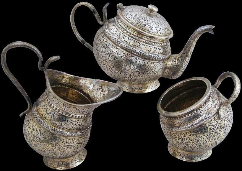 Handicrafts of India: Silverware of Kashmir , India
