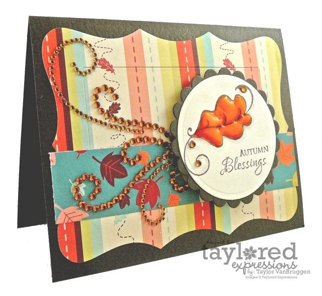 Autumn Blessings Card by Taylor VanBruggen #Cardmaking, #Fall, #Thanksgiving
