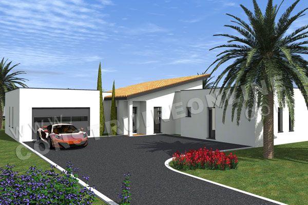 plan maison moderne arriere PACIFIC maison Pinterest