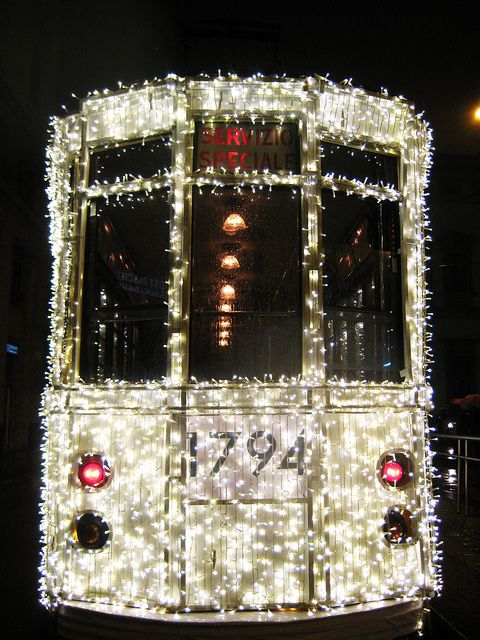 happy tram Italia Pinterest Milan, Christmas lights and Lights