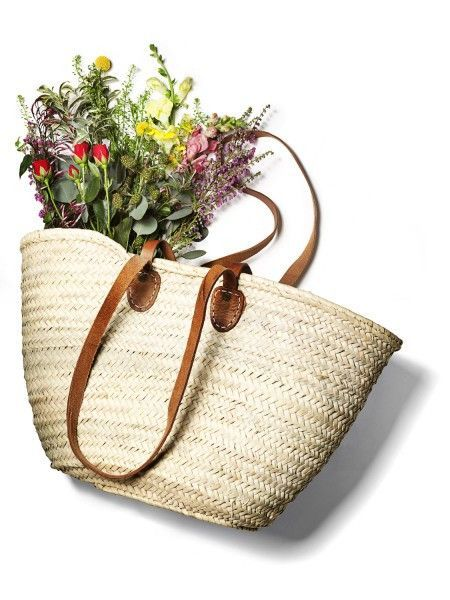 9aa9f25557 BACK IN STOCK! French Market Tote - (long + short) FEATURED IN Bon ...