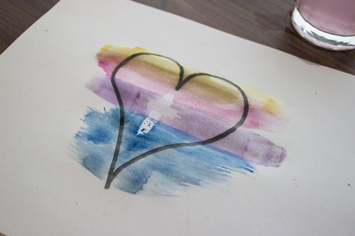 40 Days of Crafts for #Lent: Jesus in My Heart Watercolor Painting | Walk through Lent & Easter with your kids using these 40 crafts!