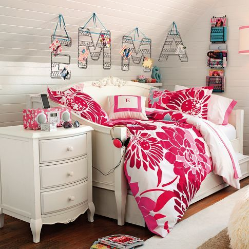 I have this duvet for my guest room...yes, it is PB Teen...and yes, I am a dork... cute though! Need a daybed now.
