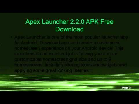 Apex Launcher 2.2.0 APK Free Download http//www