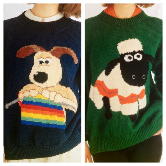 wallace and gromit knitting patterns sweaters jumpers by ECBcrafts ...