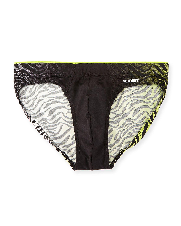 xist pro sliq zebra print briefs black men   size zebr also rh pinterest