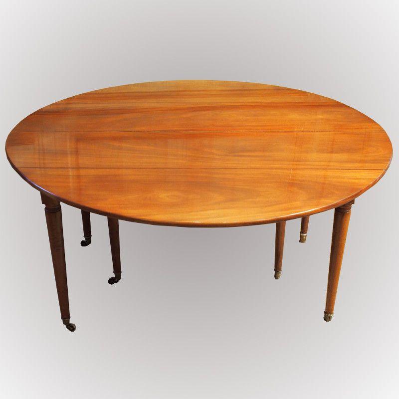 table de salle à manger en acajou de cuba antiquité du 18ème