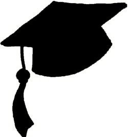 graduation hat flying graduation caps clip art graduation cap line 2 rh pinterest com clipart graduation hat clipart graduation cap