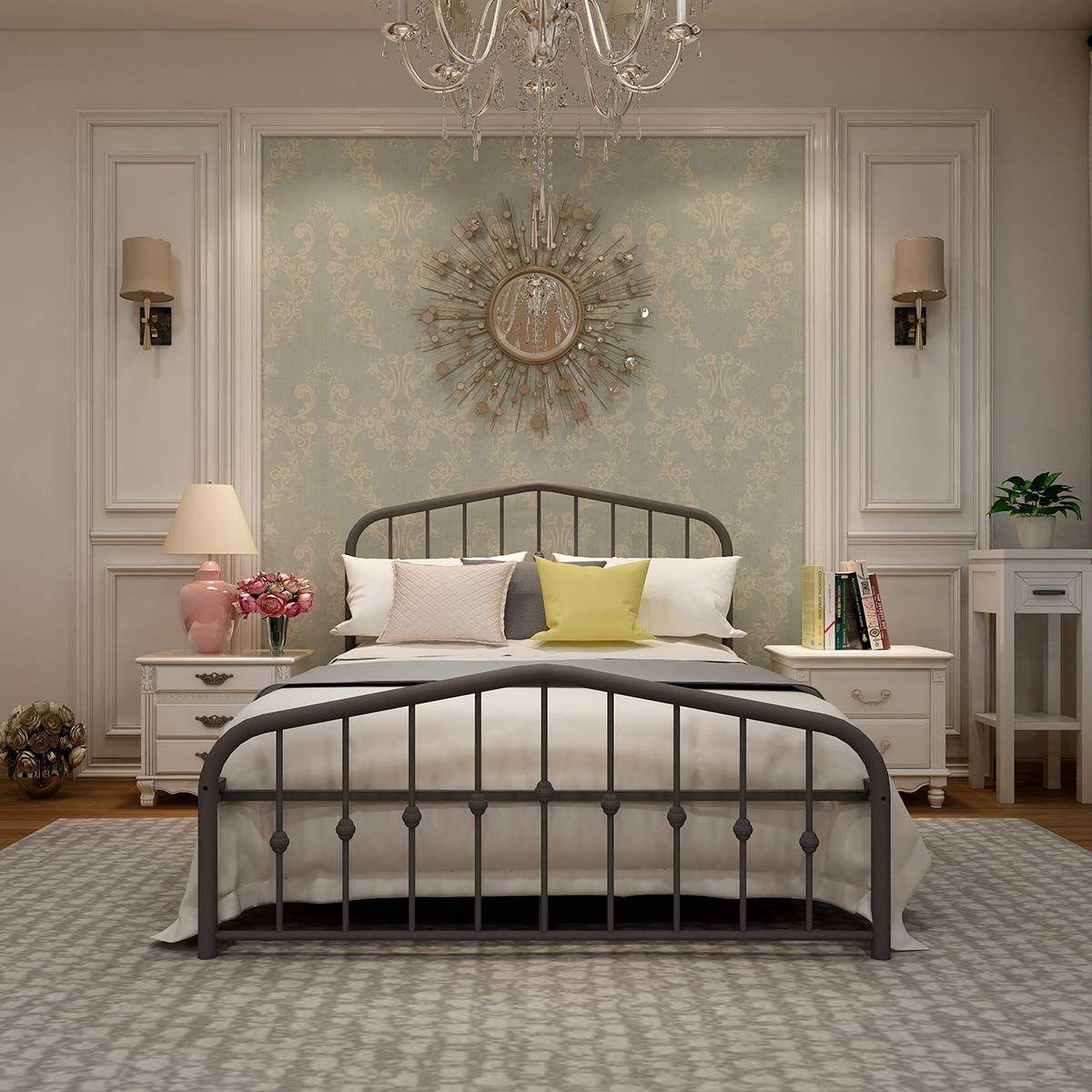 Metal Bed Frame Full Size Platform No Box Spring Needed