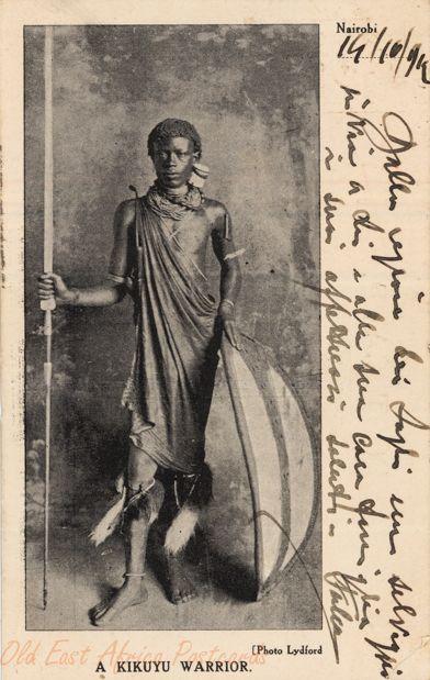 Kikuyu Warrior Kenia Ca 1912 Mark Of The Lion By border=
