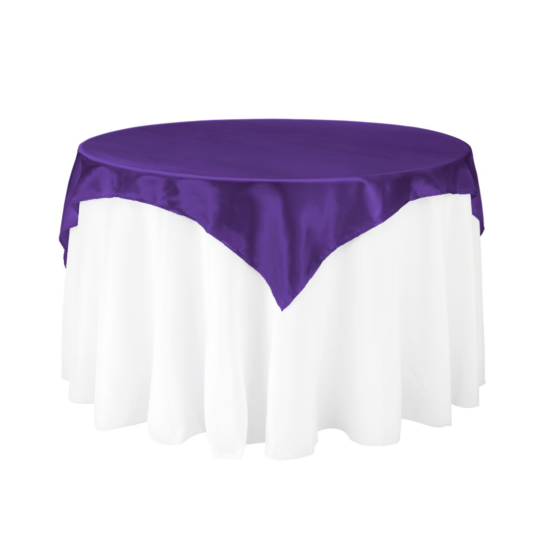 Square Satin Overlay Purple