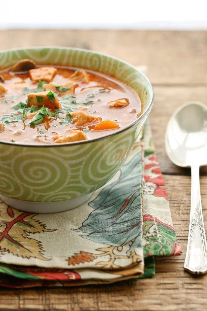 """""""Creamy Chicken, Tomato and Vegetable Soup"""" from @Carrie Vitt (Deliciously Organic)"""