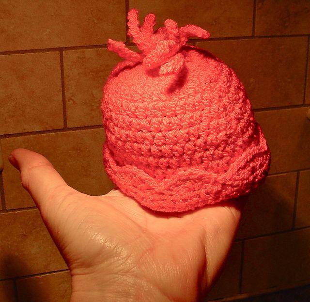 Baby Frou-Frou Preemie Hat by Janet Brani #premiebabyhats