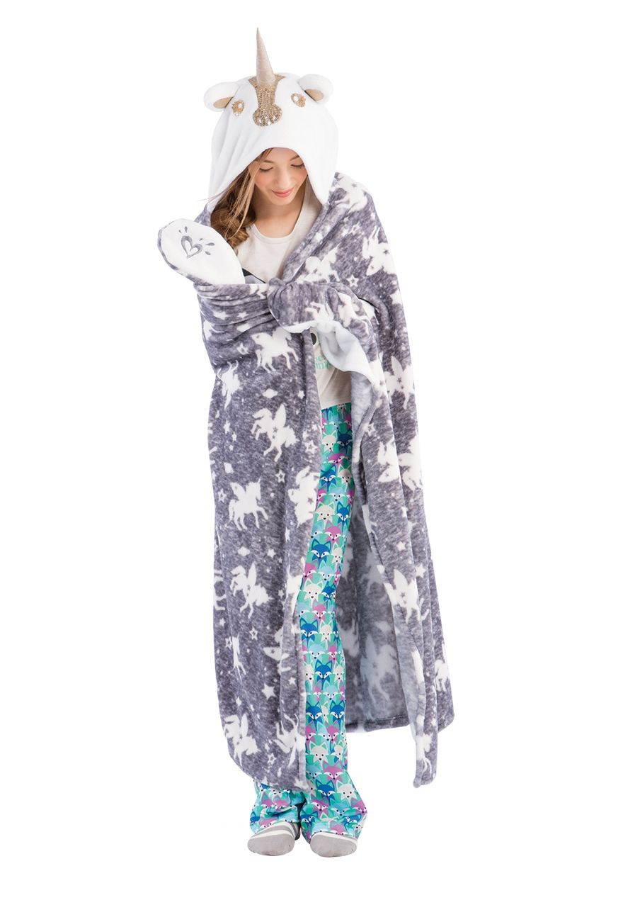 Cozy Hooded Sequin Unicorn Blanket | Justice new do | Pinterest ...