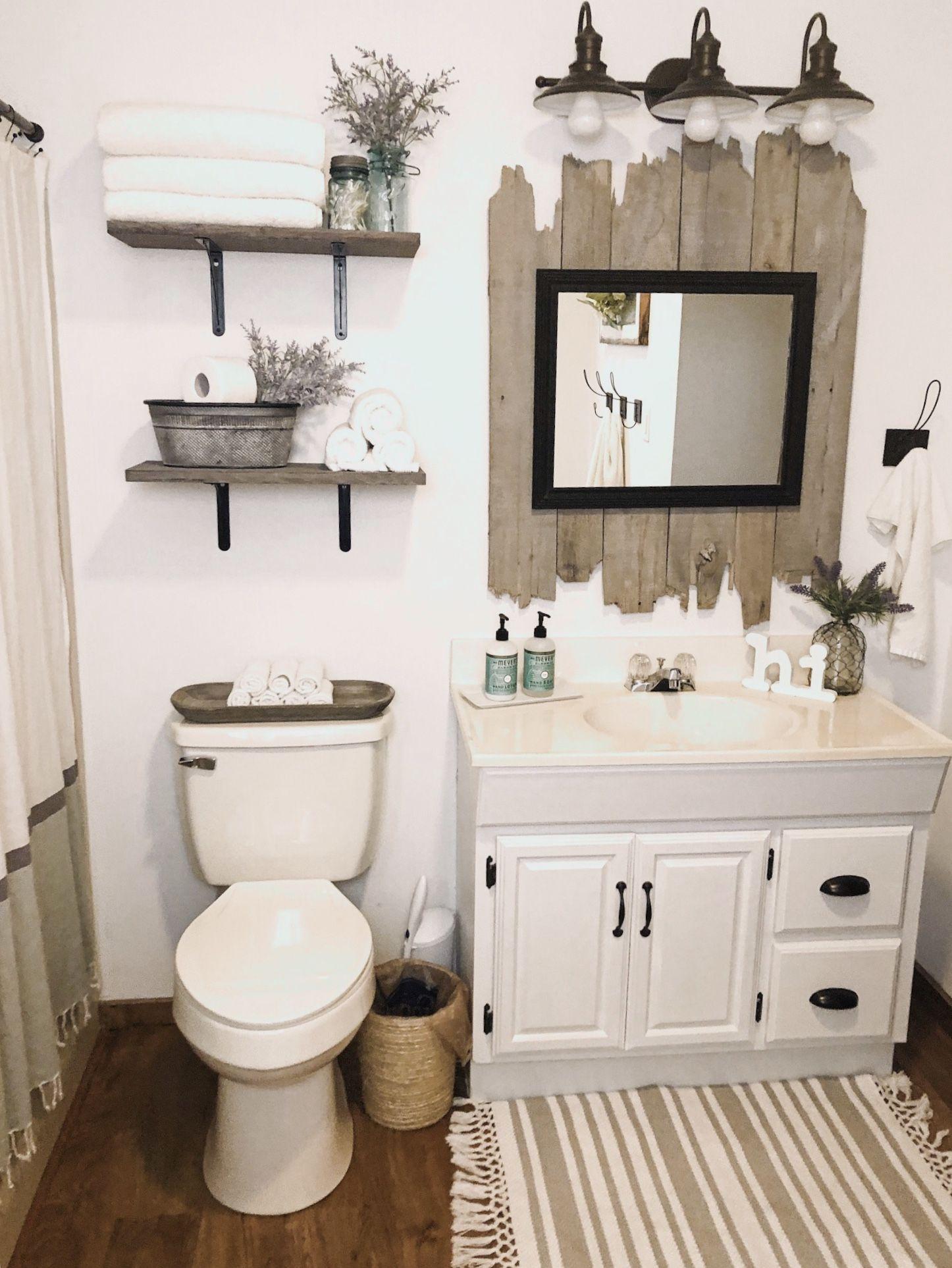 Farmhouse Bathroom Farmhouse Bathroom Decor Restroom Decor Small Bathroom Decor