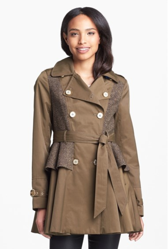 skate shoes limited sale beautiful and charming Tweed Panel Peplum Trench Coat - PERFECT for Fall! | It's a ...