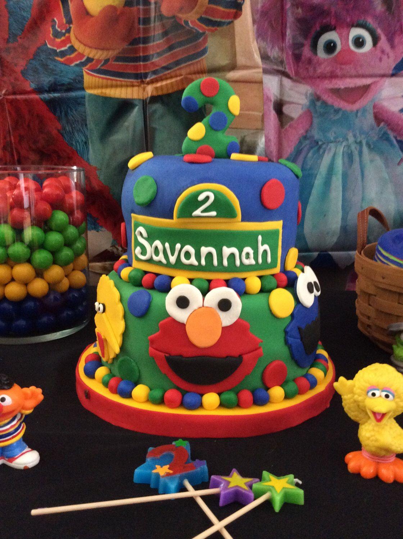 Sesame Street Cake Topper Elmo Party Ideas Birthday Fondant