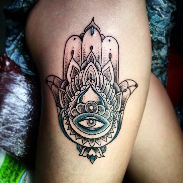 1e617007a 55 Spiritual Hamsa Tattoo Meaning and Designs – Symbol Of Protection ...
