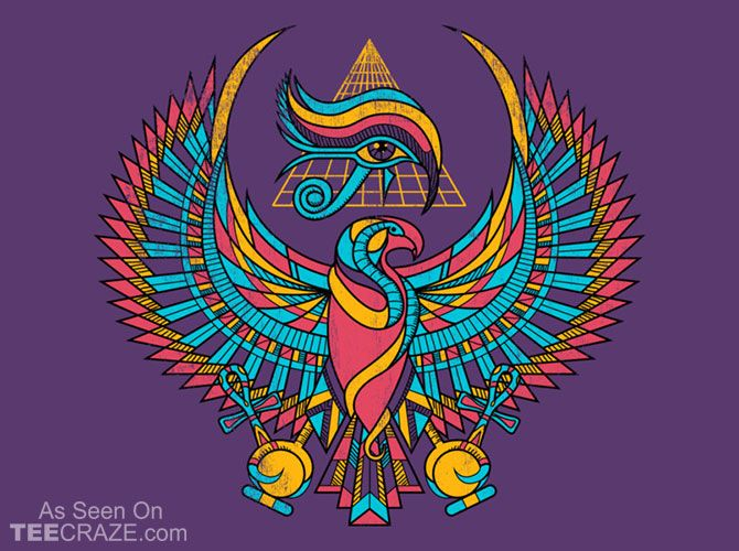 The Eye Of Horus T-Shirt - http://teecraze.com/the-eye-of-horus-t-shirt/ -  Designed by qetza    #tshirt #tee #art #fashion