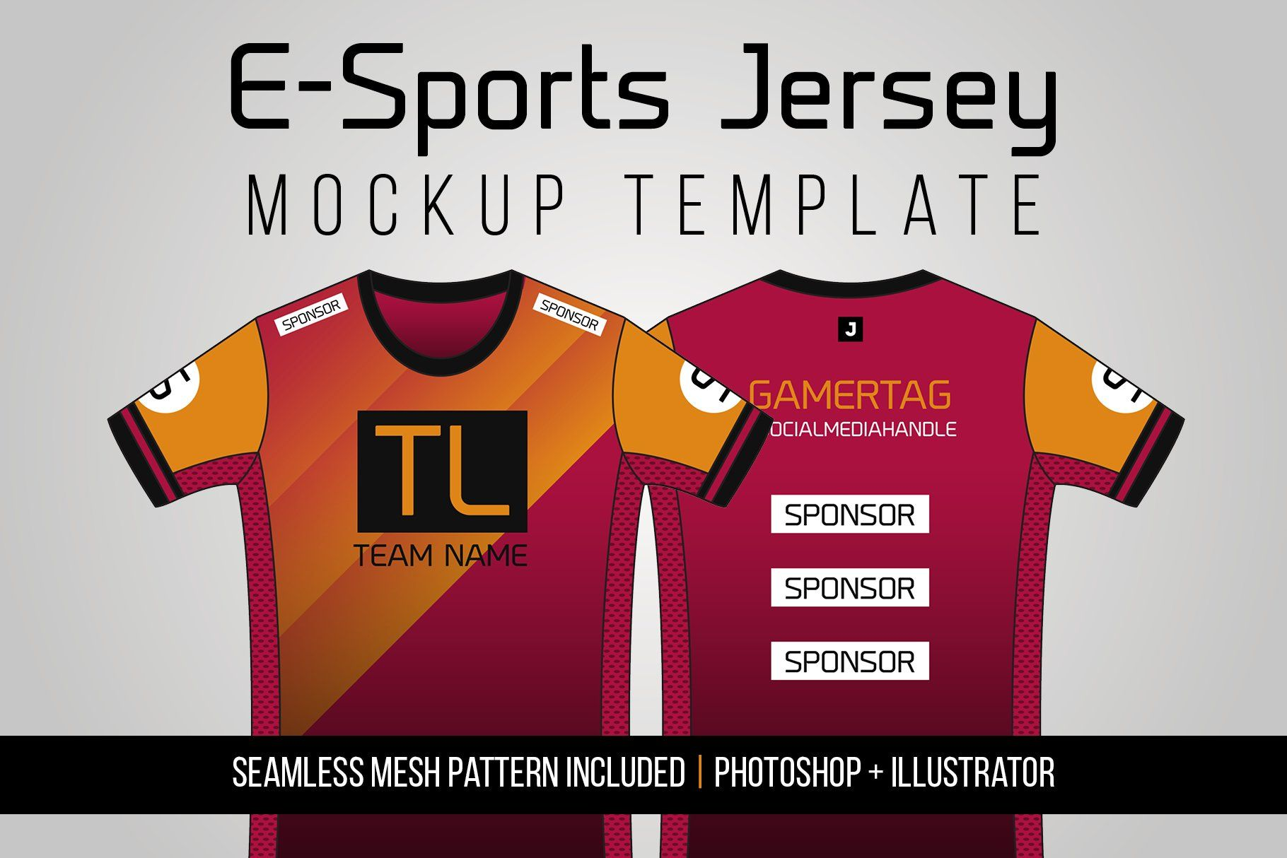 Download E Sports Jersey Mockup Template Mockup Template Sports Jersey Jersey