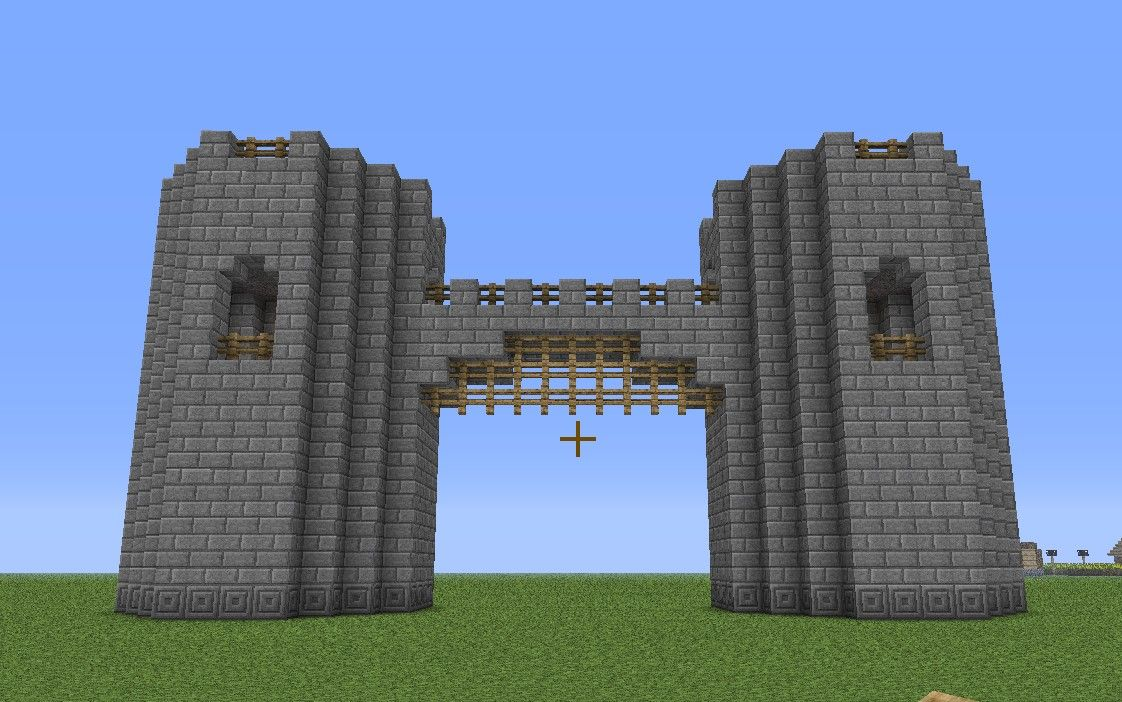 Minecraft castle wall exterior basic castle fortress for Castle design