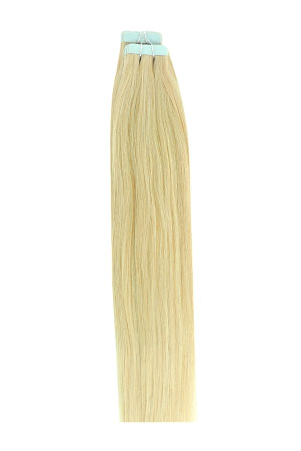 22 Inch Tape in Remy Human Hair Extensions, Light Ash Blonde # 22 #lightashblonde