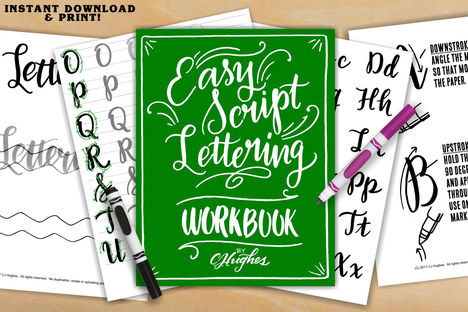 Easy Script Lettering Workbook