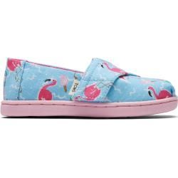 Toms Shoes Blue Flamingo Canvas Classics For Toddlers  Size 285 TomsToms  Toms Shoes Blue Flamingo Canvas Classics For Toddlers  Size 285 TomsToms
