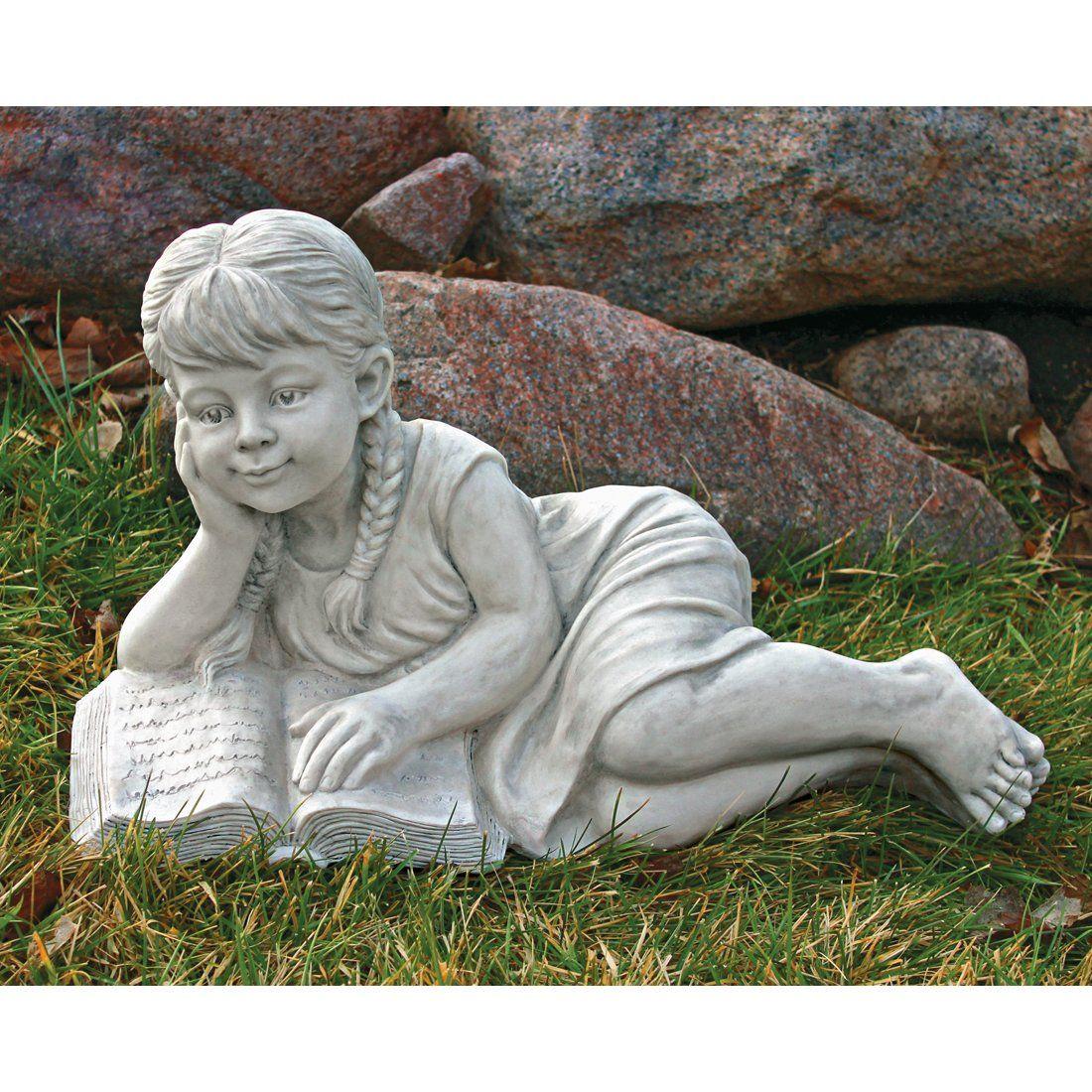 Design Toscano SH38038813 Reading Rebecca Garden Scholar Statue at ATG Stores