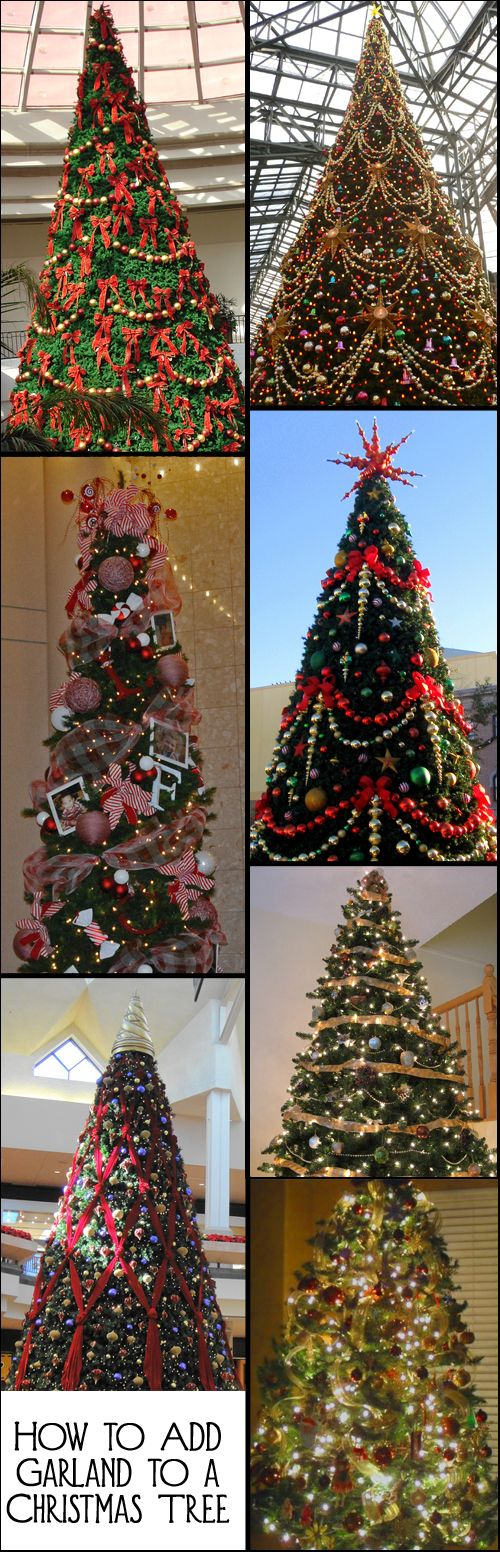 How to Add Garland to a Christmas Tree - beads, ribbon, bows, popcorn,  tinsel, or whatever garland you want to use. - How To Add Garland To A Christmas Tree Christmas Christmas
