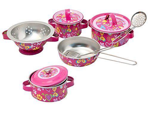 10 tlg Kochset - Topfset aus Metall incl Küchenhelfer - Geschirr - kinder spiel k chen