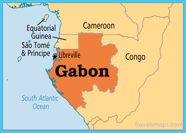 nice Map of Gabon | Travelsmaps | Africa map, Africa, States, capitals